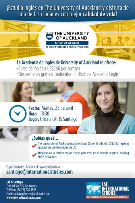 Estudia Inglés @ The University of Auckland