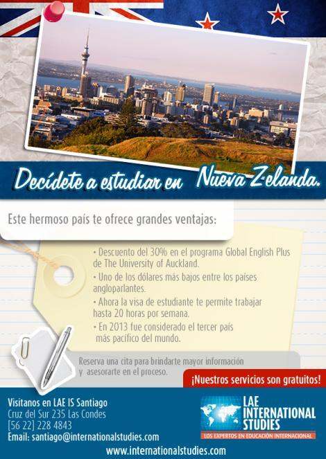 Estudia Inglés en Nueva Zelanda