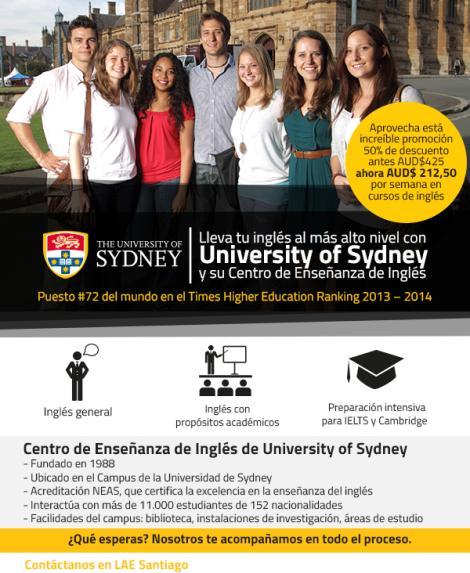 Estudia Inglés en The University of Sydney
