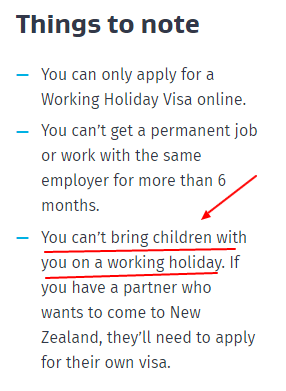 No niños NZ WH
