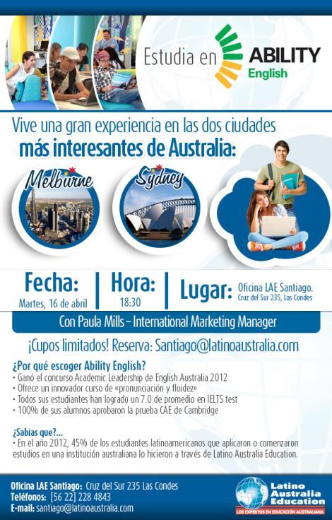 Estudia en Australia – Charla Informativa
