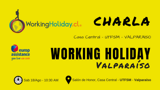 Charla Working Holiday Valparaíso – UTFSM 18 Ago 2018