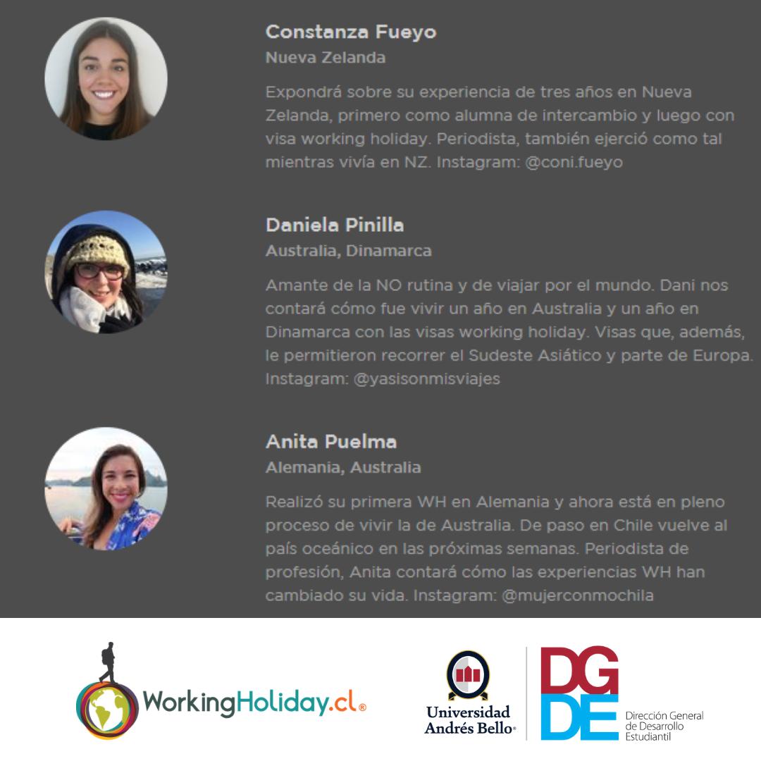 Charla Working Holiday Concepción – UNAB 10 Nov 2018