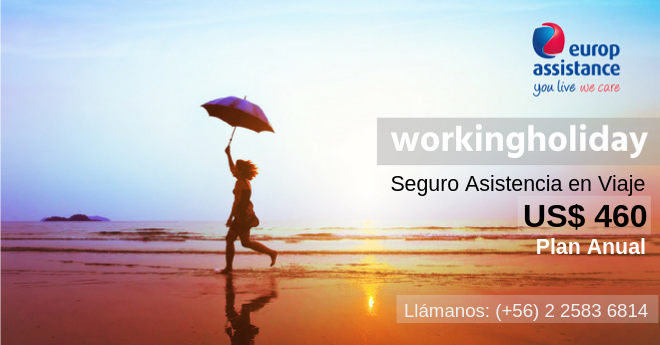 seguro working holiday schengen visa